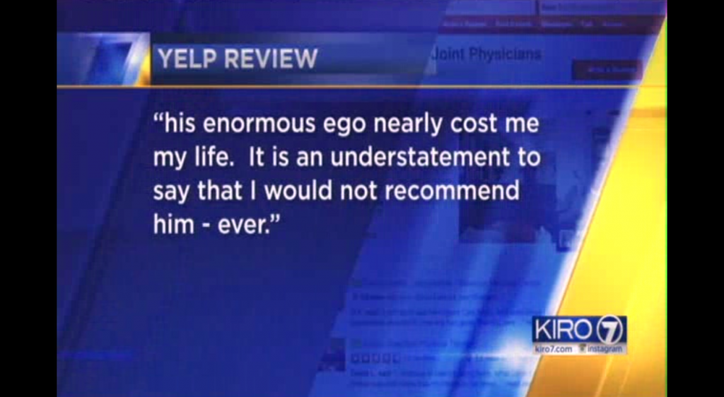 Yelp Review on TV