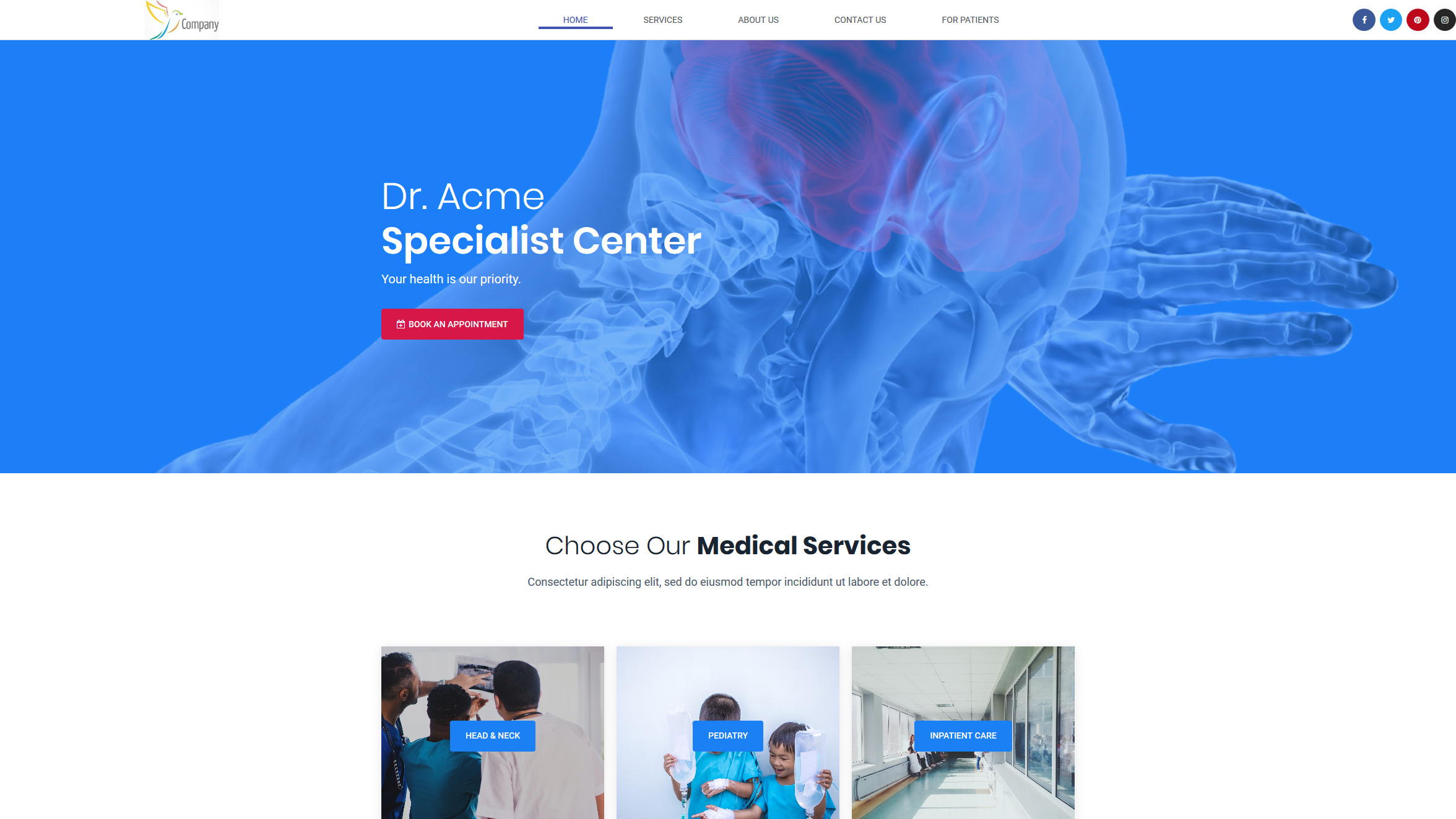 Acme Medical Practice – Bringing Care to Healthcare