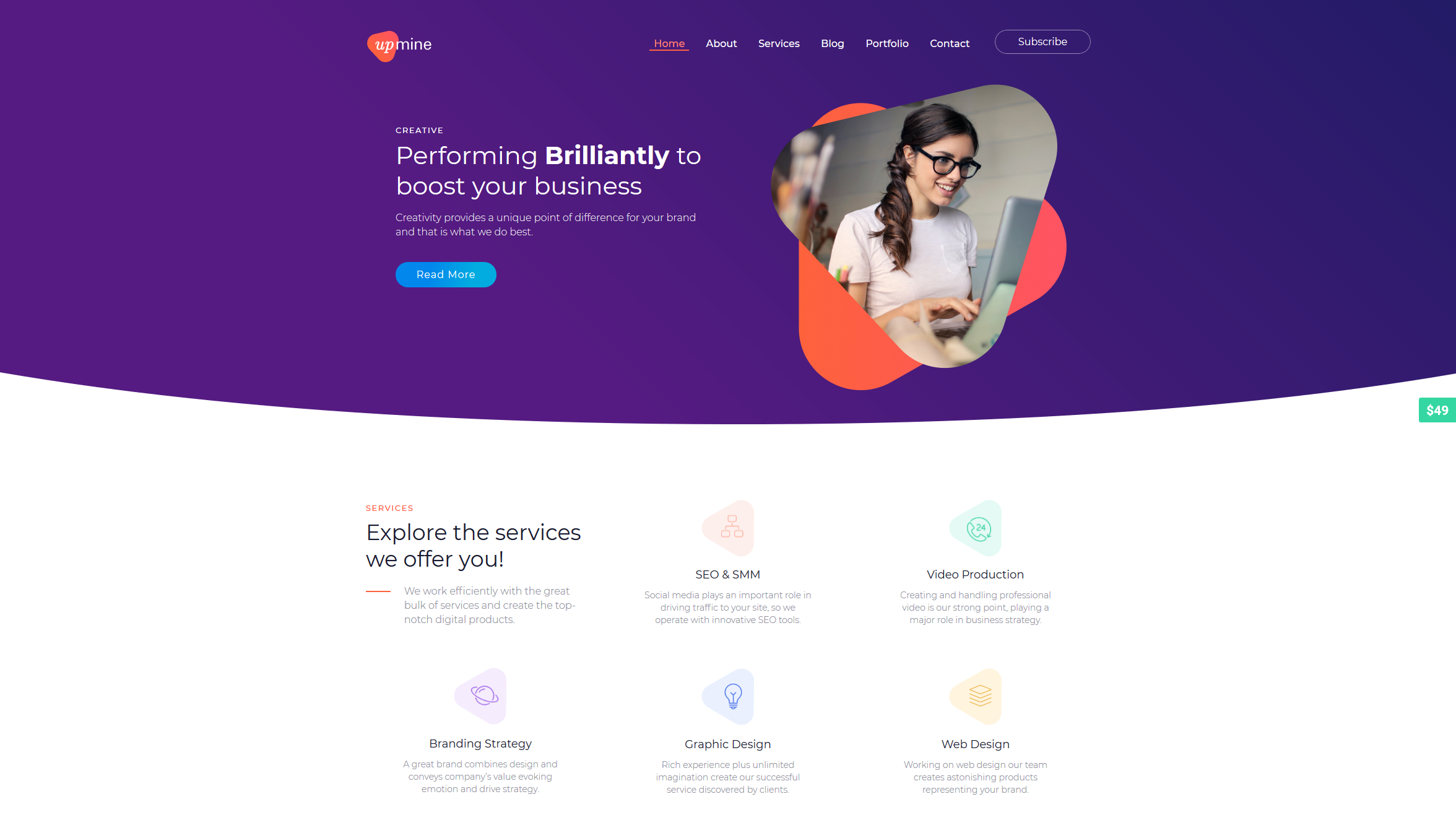 Screenshot_2019-02-21 Upmine – Just another WordPress site