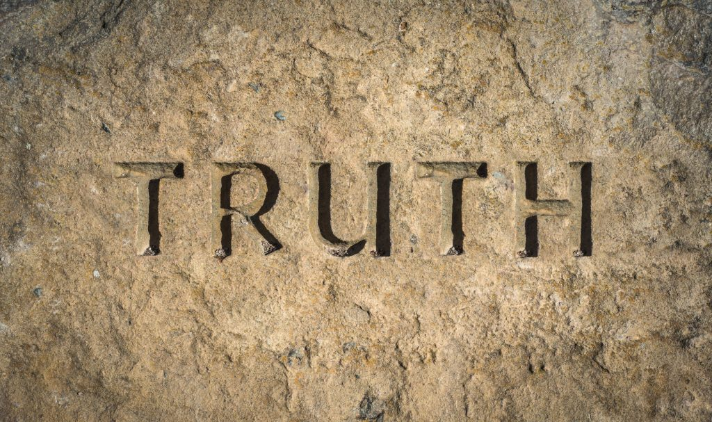 Truth Chiselled Into Rock