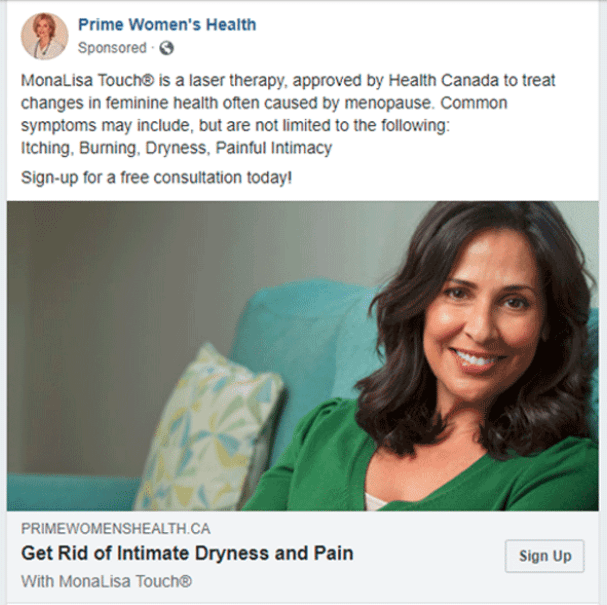 Facebook Advertising for Medical Practices: Practice Women's Health