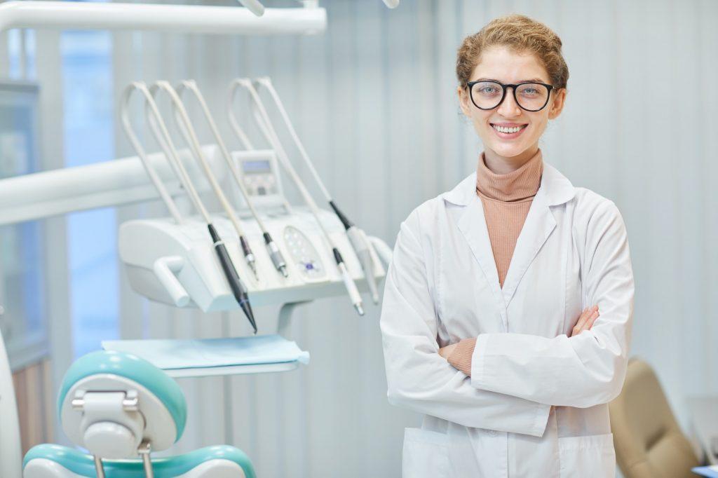 Dentist at dental clinic
