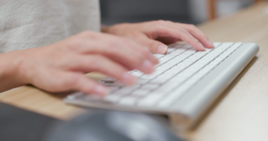 Typing on keyword